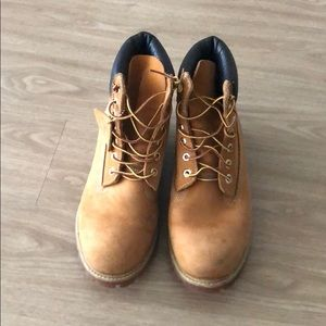 Timberland 6 inch wheat boots.